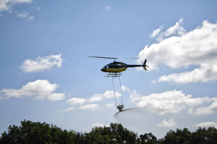 cloud seeding helicopter